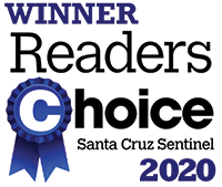Winner Readers Choice Santa Cruz Sentinel 2020